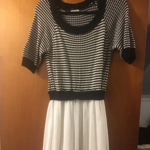 Maison Jules stripe sweater and tulle dress